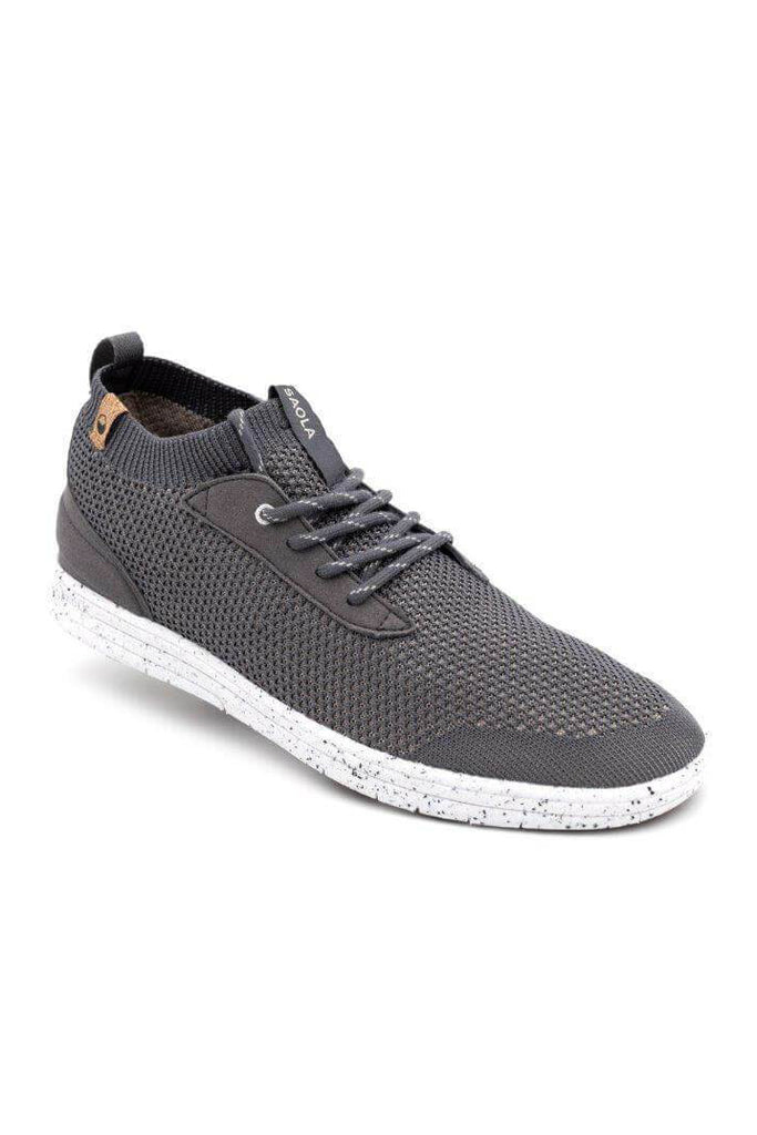 Men Mindo Recycled Sneakers in Charcoal