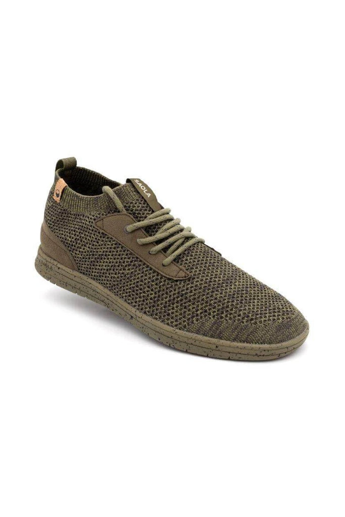 Men Mindo Recycled Sneakers in Burnt Olive