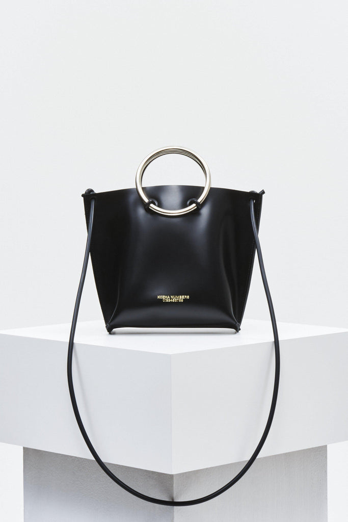 The Mini Safe Ethical Leather Handbag in Black