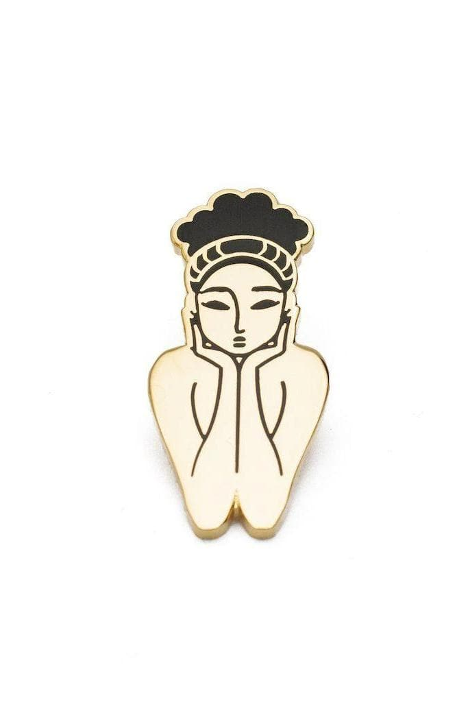 Malkia Queen Recycled Brass and Enamel Pin