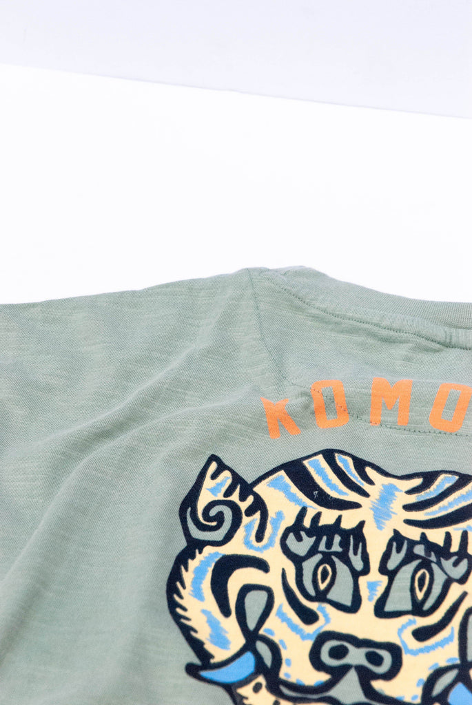 Mantra Tiger Organic Cotton T-shirt in Mineral Blue