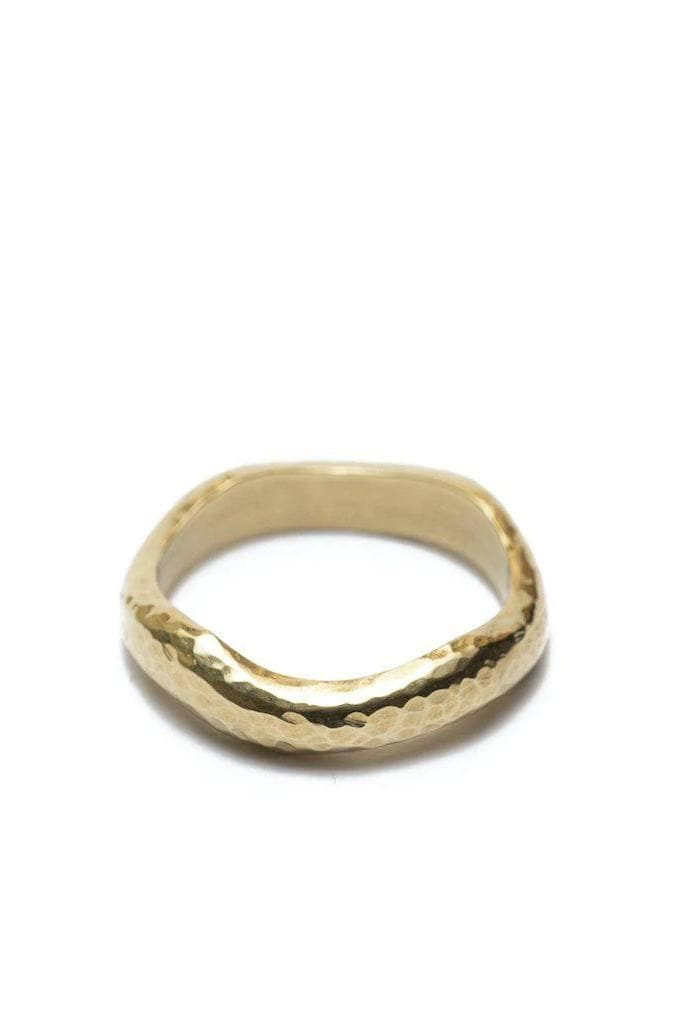 Maseno Textured Recycled Brass Ring