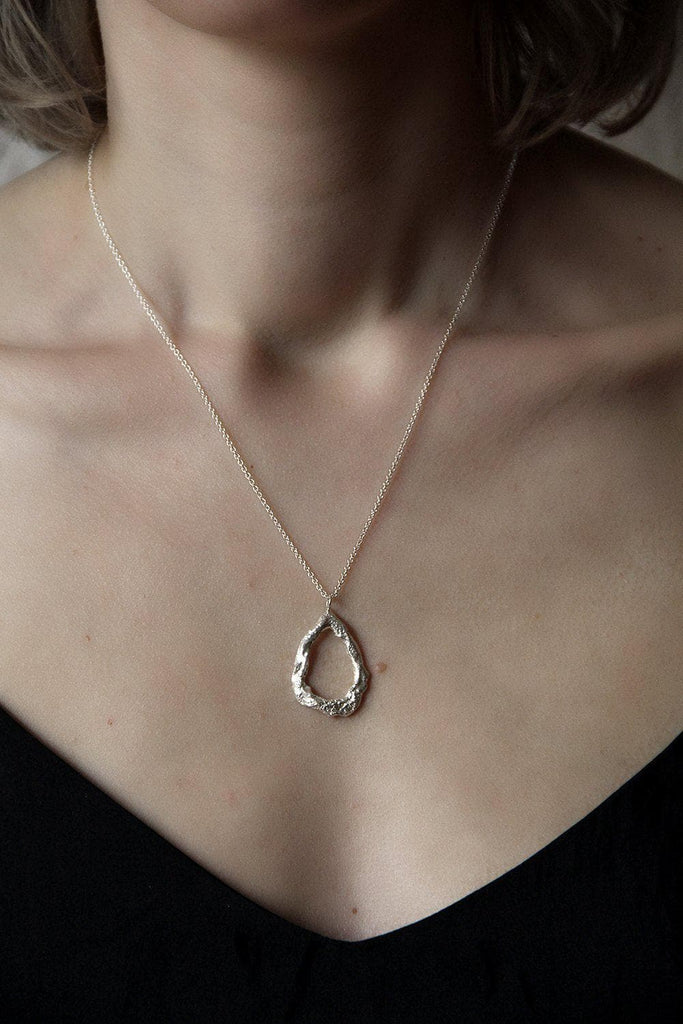 Melt Drop Recycled Sterling Silver Necklace