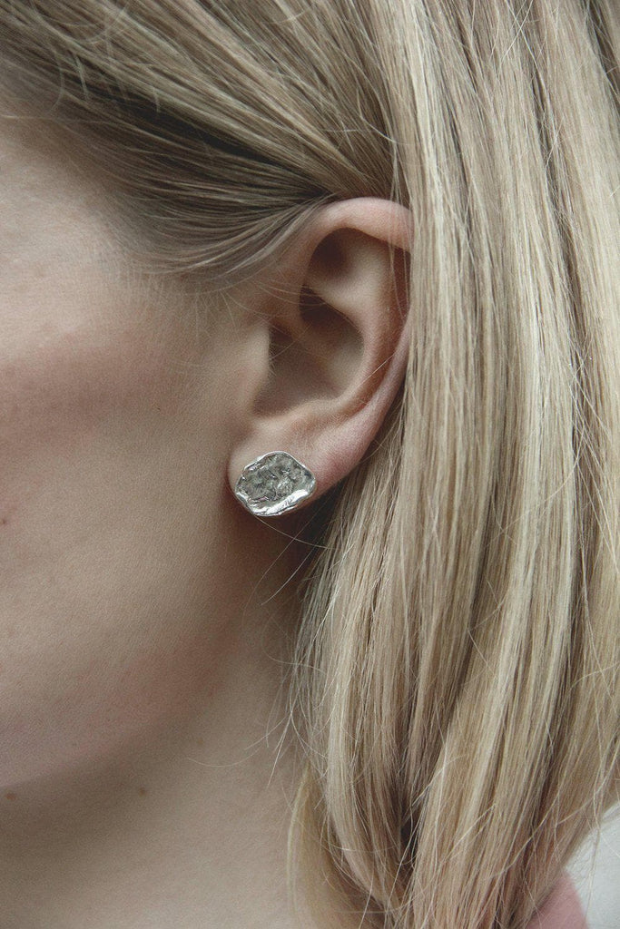 Melt Recycled Sterling Silver Ear Stud