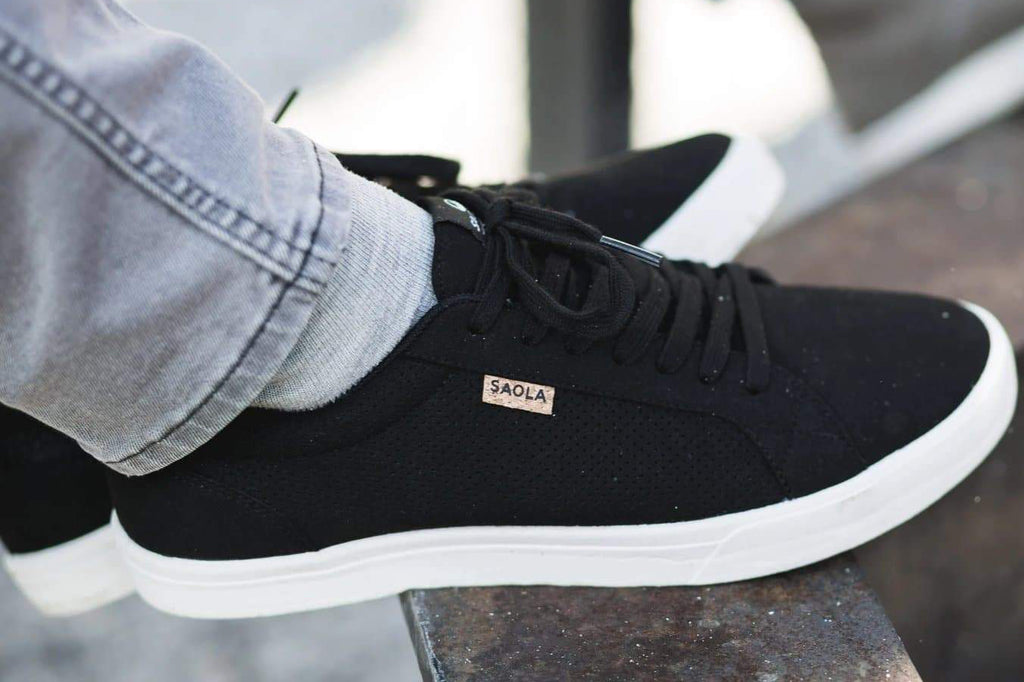 Men Cannon Recycled Sneakers in Black