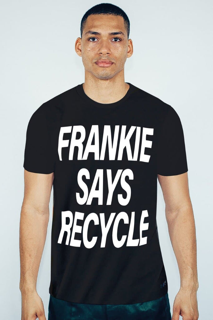 Frankie Says Recycled Cotton Men's T-shirt in Black