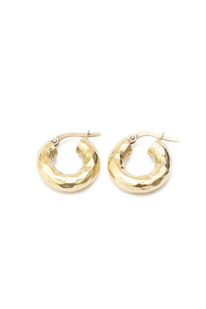 Merille Hammered Recycled Brass Ear Huggies
