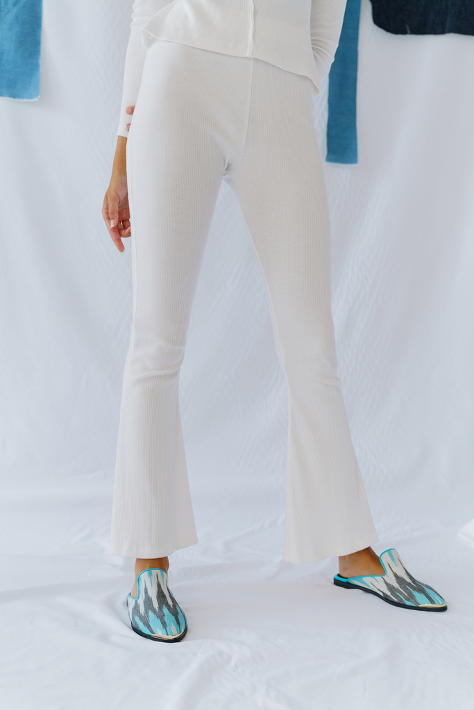 Mertz Organic Cotton Vegan Trousers in White