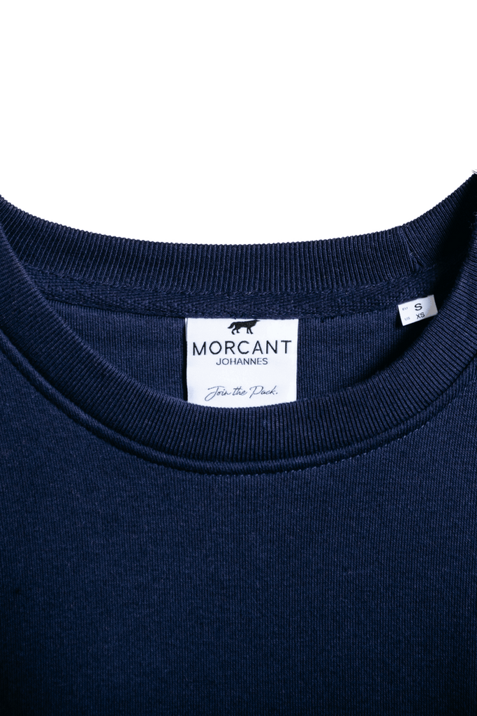 Organic Cotton Trio Sweater in Navy