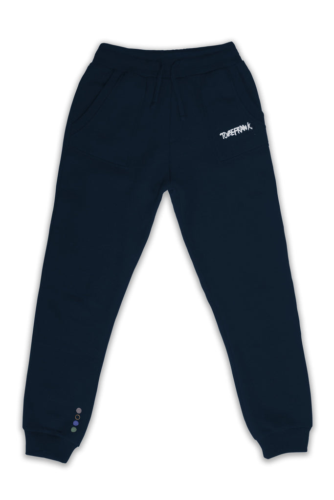 Nelson Recycled Cotton & Polyester Unisex Joggers in Navy
