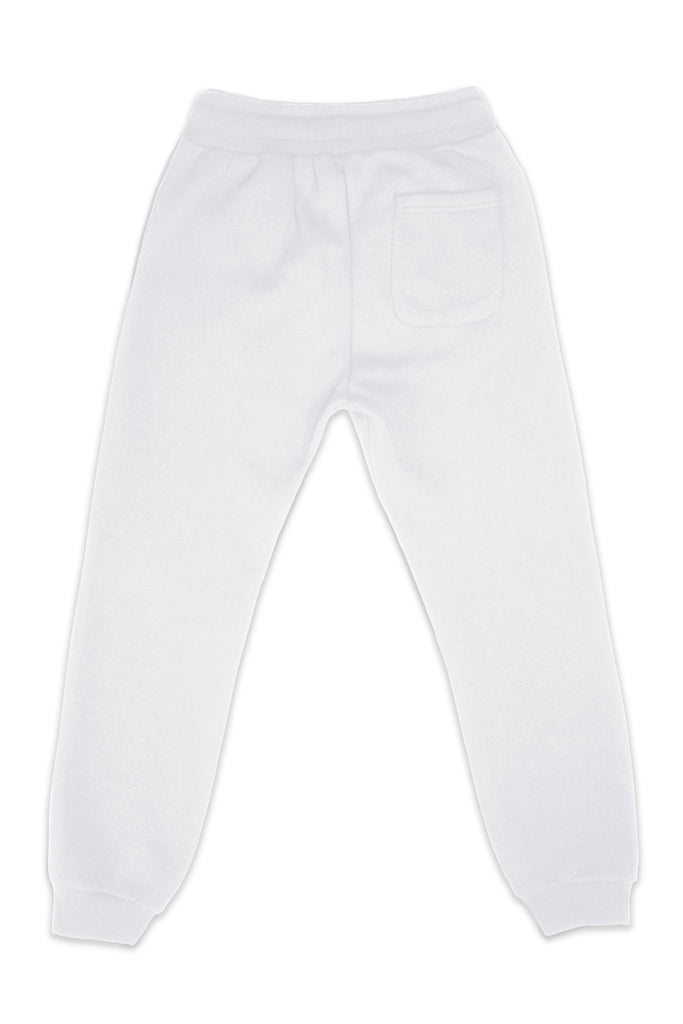 Nelson Recycled Cotton & Polyester Unisex Joggers in White