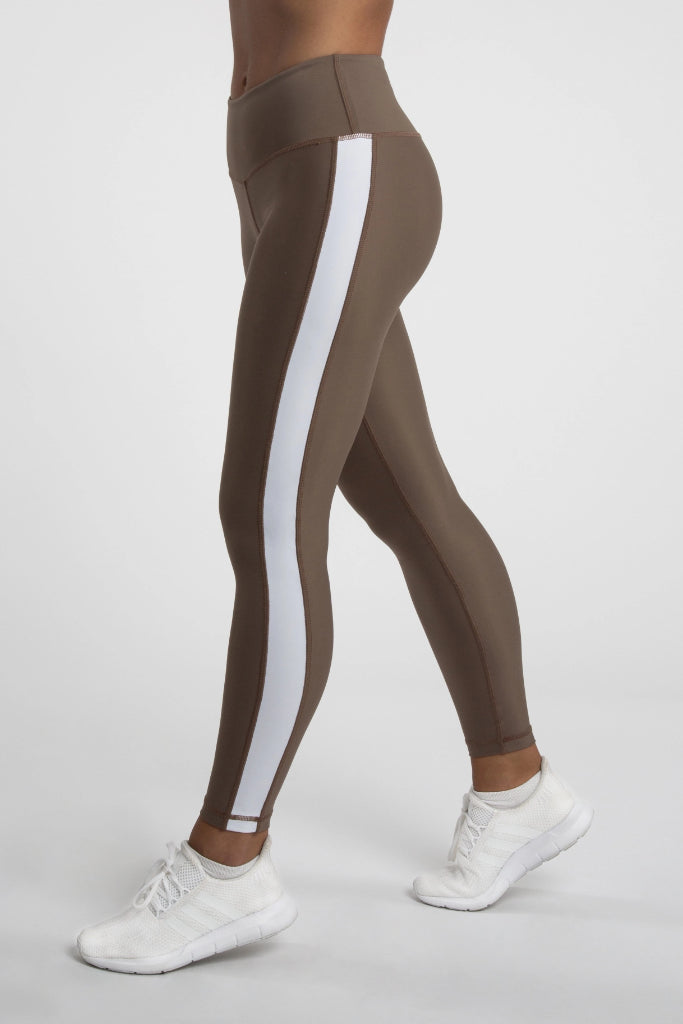 Regenerated Nylon Panel Leggings in Different Colors