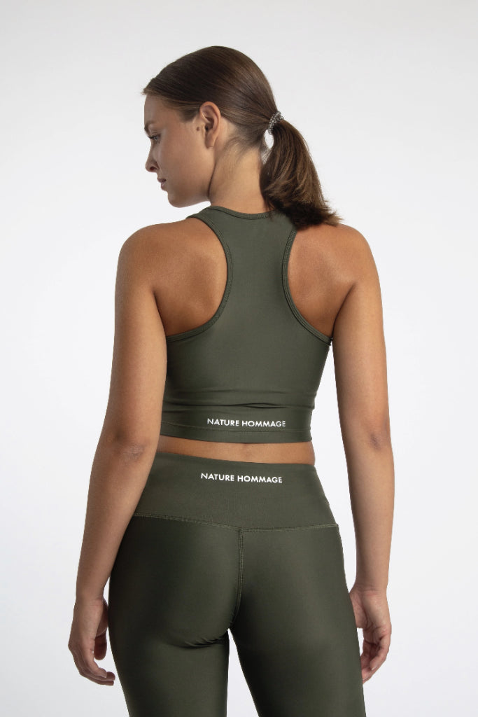 Regenerated Nylon Compression Cropped Top in Different Color