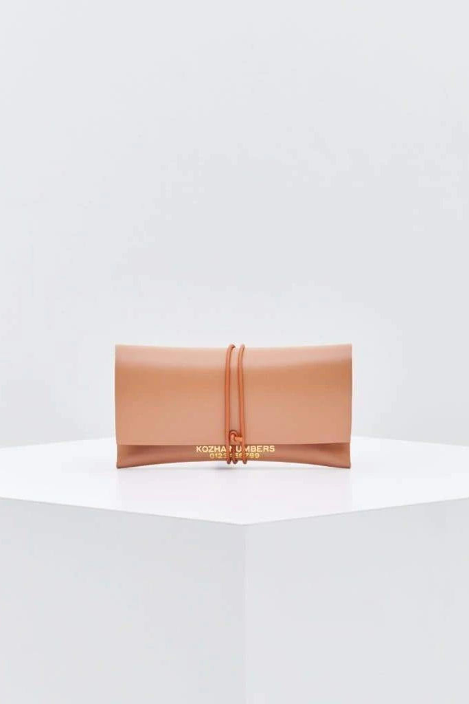 The Cardlet Ethical Leather Purse in Nude