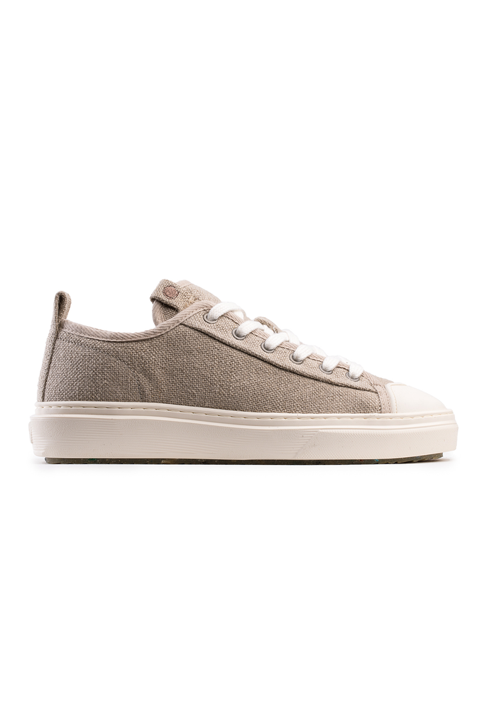 Mahi Mahi Recycled Linen Sneakers in Beige