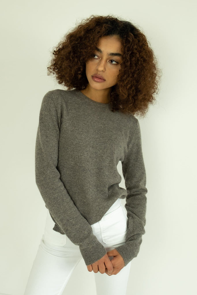 The Savona Handmade Cashmere Sweater in Gray
