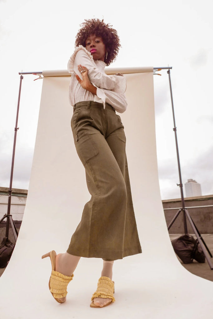 Dolores Handmade Cotton Cargo Trousers in Different Colors