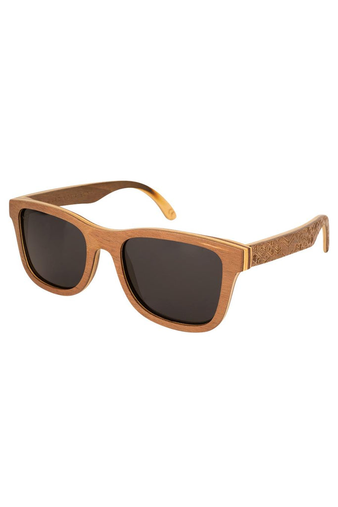 Petrel Ethical & Eco-Friendly Layered Beechwood Sunglasses in Brown