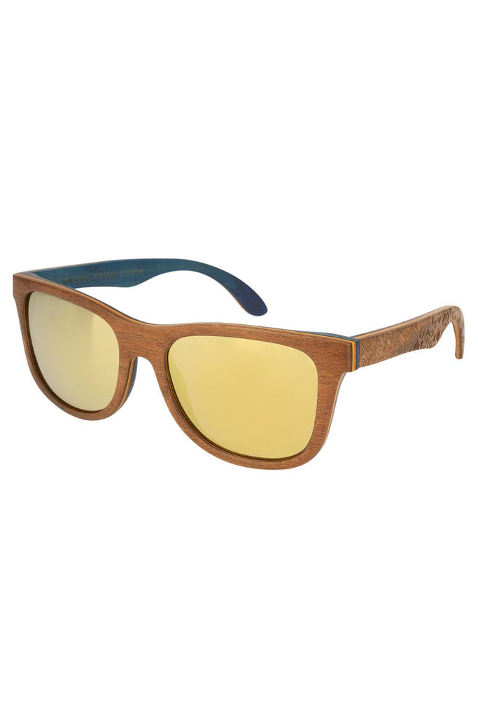 Limited Edition Petrel Ethical & Eco-Friendly Layered Beechwood Sunglasses in Brown