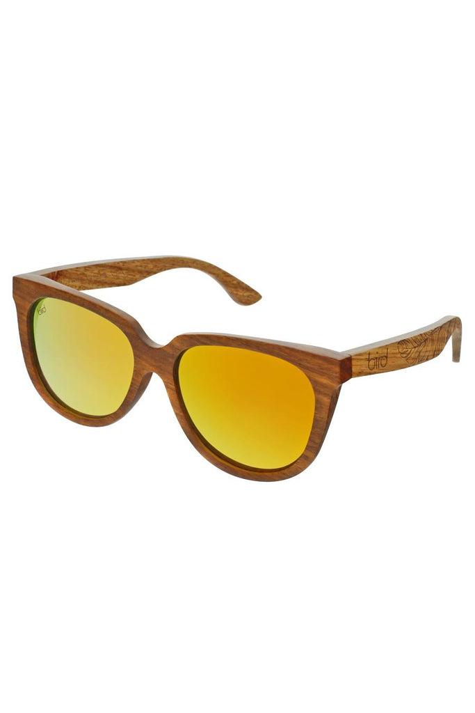 Phoenix Ethical & Eco-Friendly Cherry Wood Sunglasses in Brown