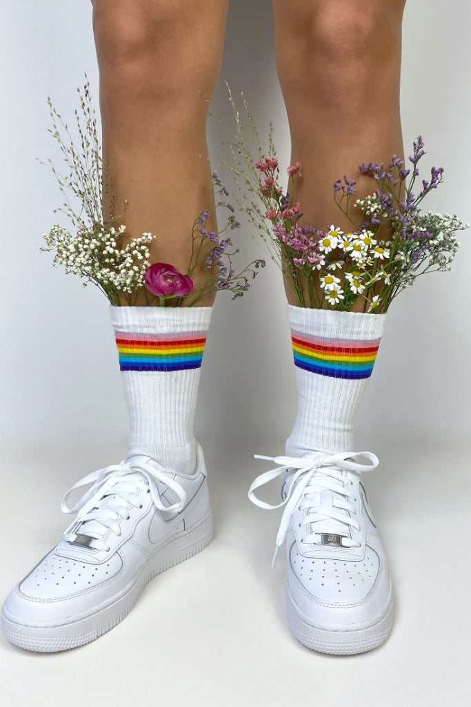 Celebrate Diversity Organic Cotton Socks in White