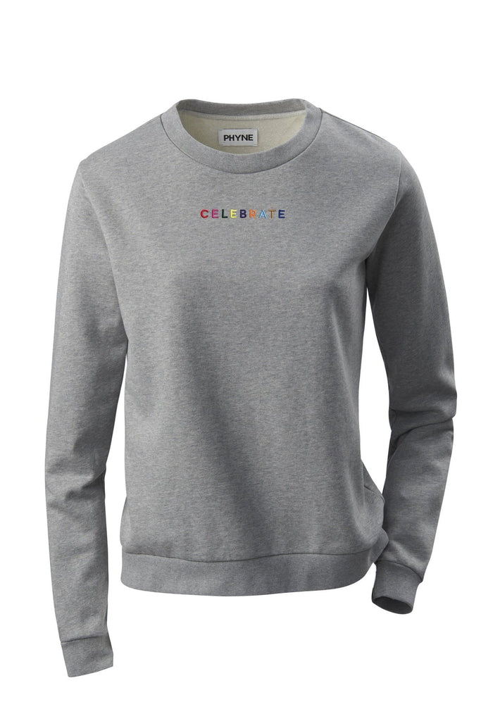 Organic Cotton CELEBRATE Sweater for Women in Gray