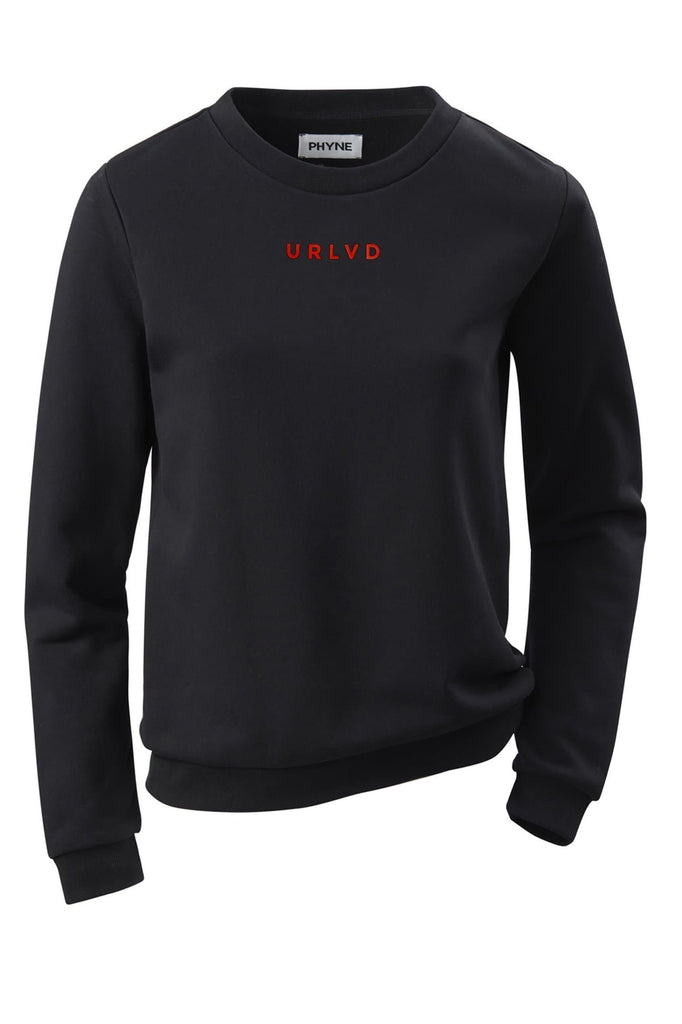 Organic Cotton URLVD Women Sweatshirt in Black