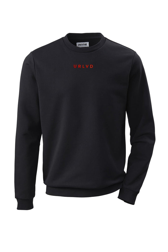 Organic Cotton URLVD Men Sweatshirt in Black