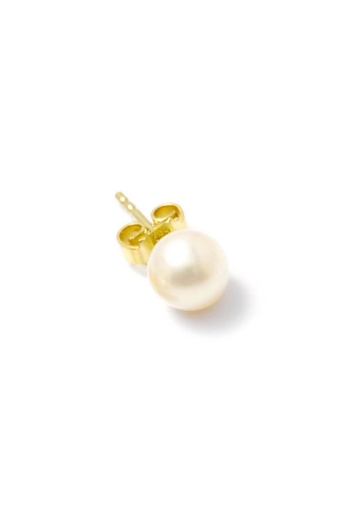 Handmade Big Pearl Earrings in Gold