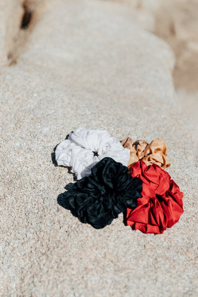 Organic Silk&Linen Scrunchie in Different Colors