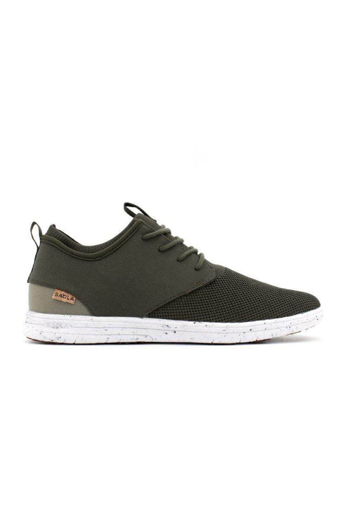 Men Semnoz II Recycled Sneakers in Dark Olive
