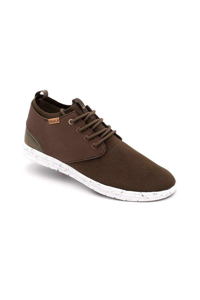 Men Semnoz Recycled Sneakers in Chocolat