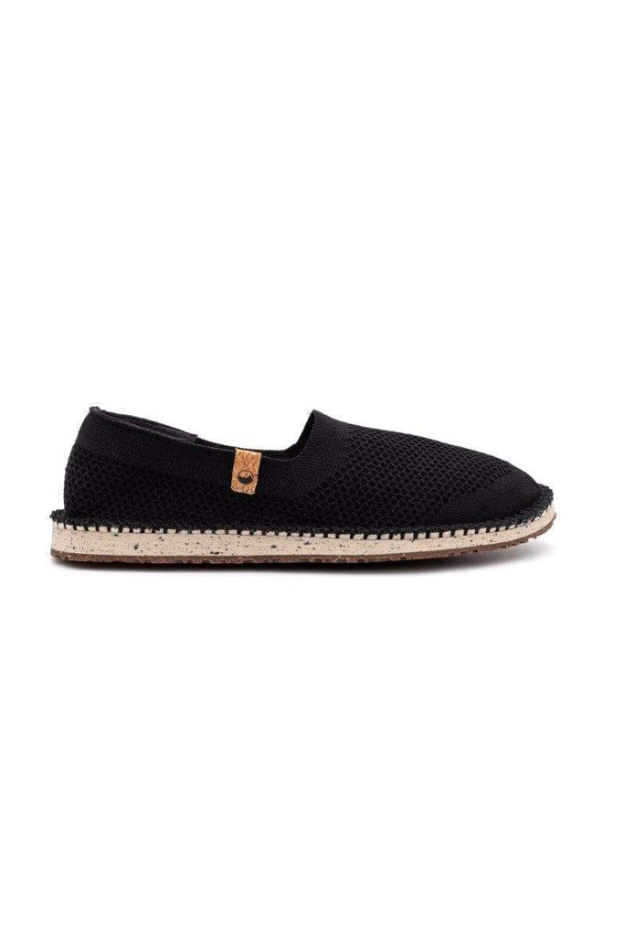 Women Sequoia Recycled Flats Shoes in Black
