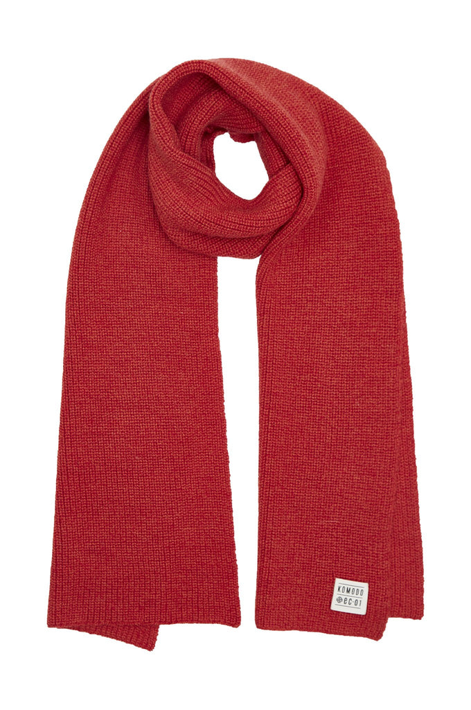 Stanley Biodegradable Merino Wool Scarf in Red