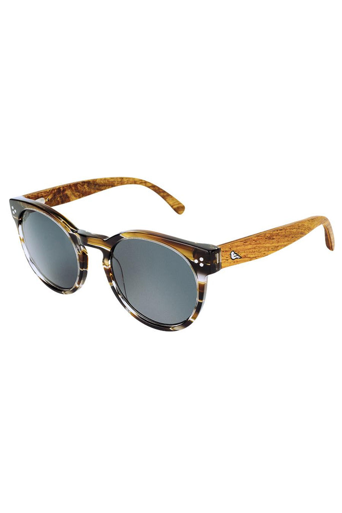 Sunda Ethical & Eco-Friendly Acetate Sunglasses in Cola-Stripe