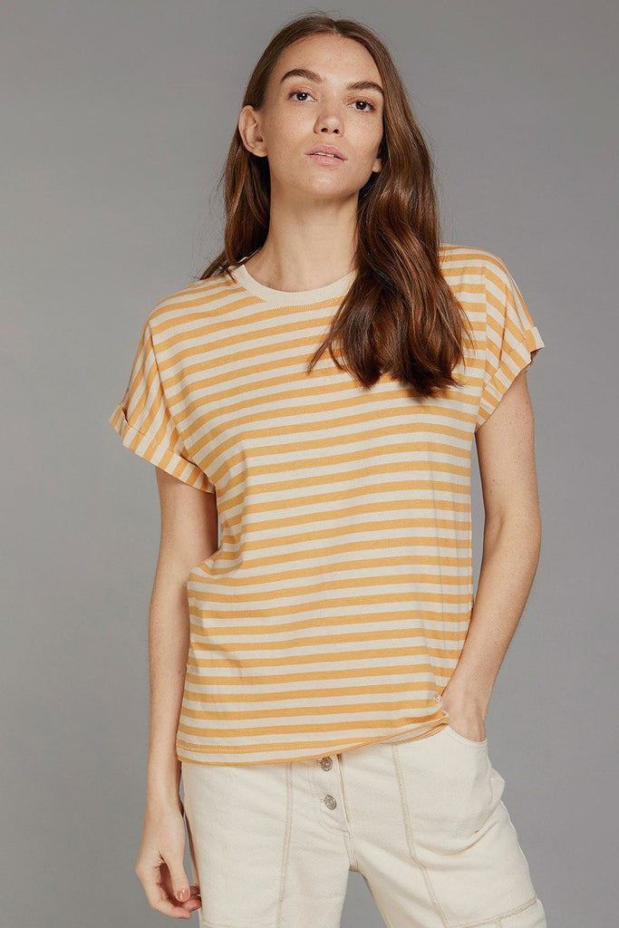 Sunrise Butterfly Organic Hemp & Cotton T-shirt in Amber