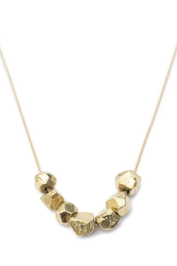 Sagana Recycled Brass Nugget Necklace