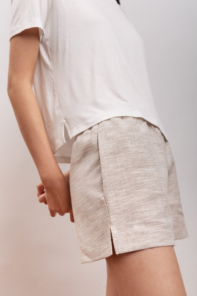 Amaryllis Vegan Hemp & Cotton Shorts in White