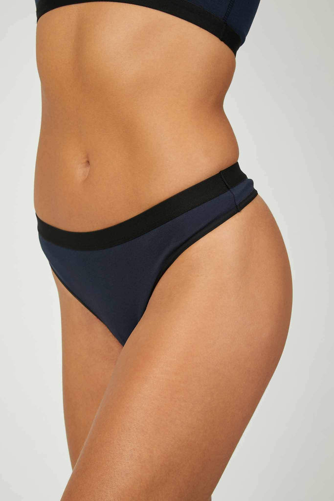 Ivy Ethical Tencel Thong in Blue