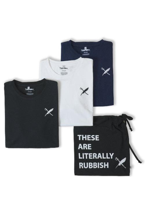 3-Pack Recycled Cotton Unisex T-shirt Mix