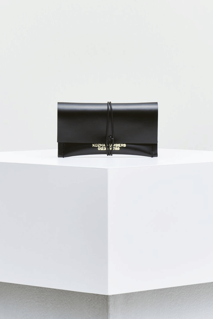 The Cardlet Ethical Leather Purse in Black