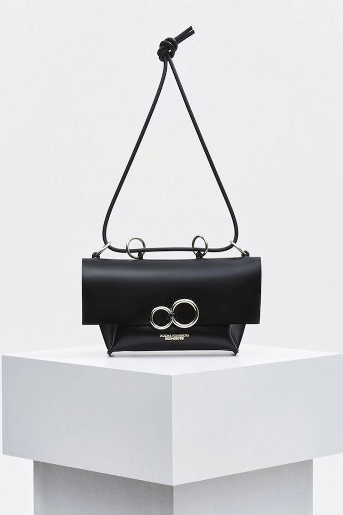The Orbit Ethical Leather Handbag in Black