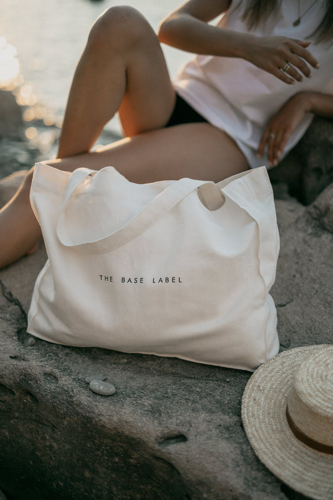 Organic Cotton Shopping Bag in White