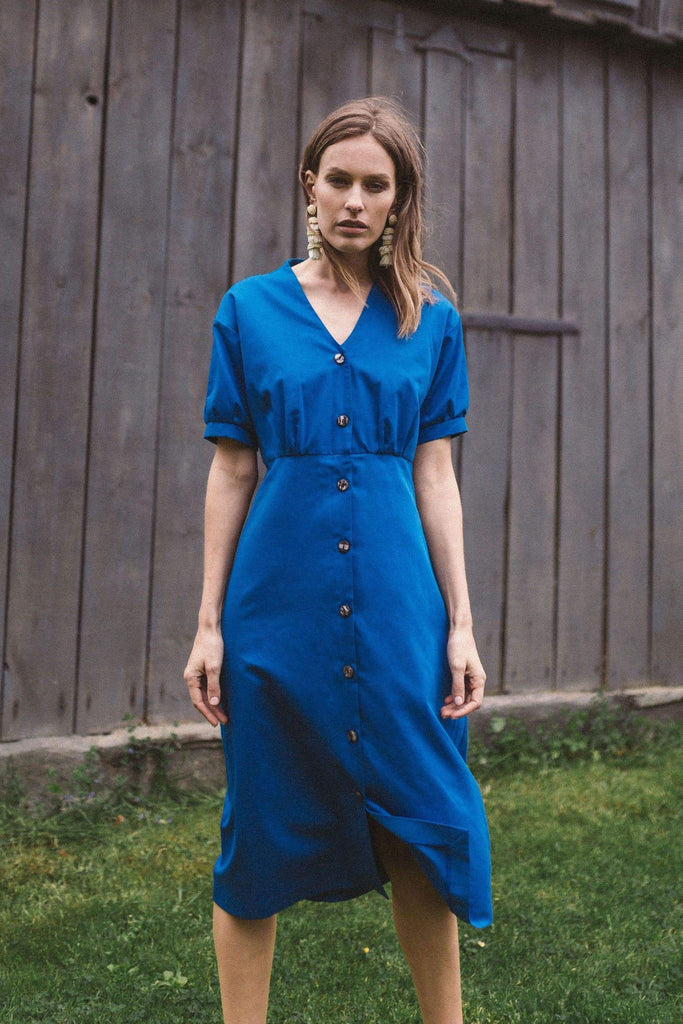 Bubu Organic Cotton Dress in Blue