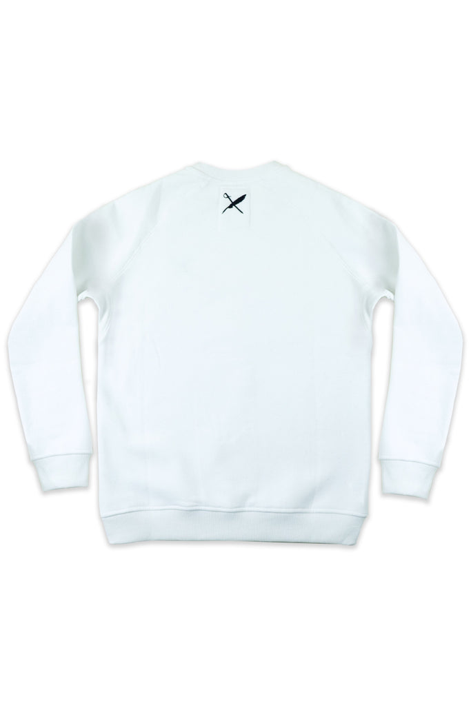 Bobby Recycled Cotton & Polyester Unisex Sweatshirt in White