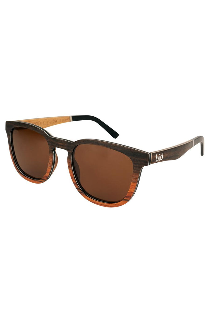 Wren Ethical & Eco-Friendly Bamboo Sunglasses in Brown