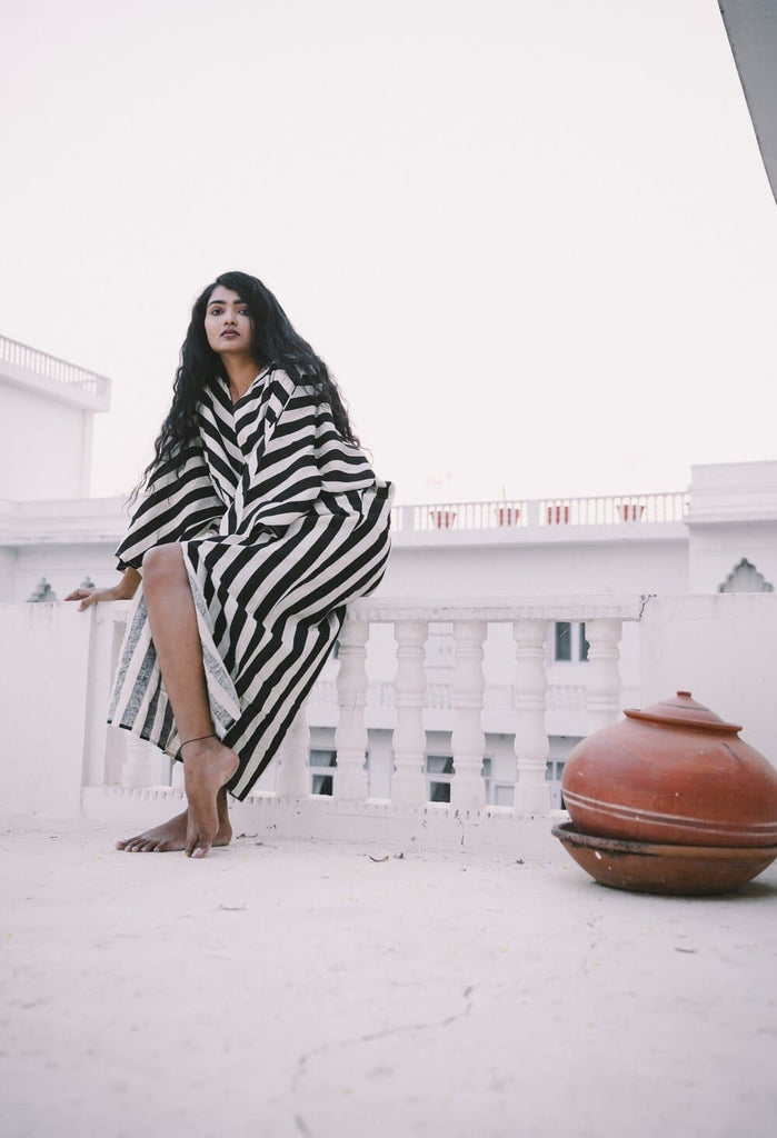 Essaouira Organic Cotton Kaftan in Different Stripes