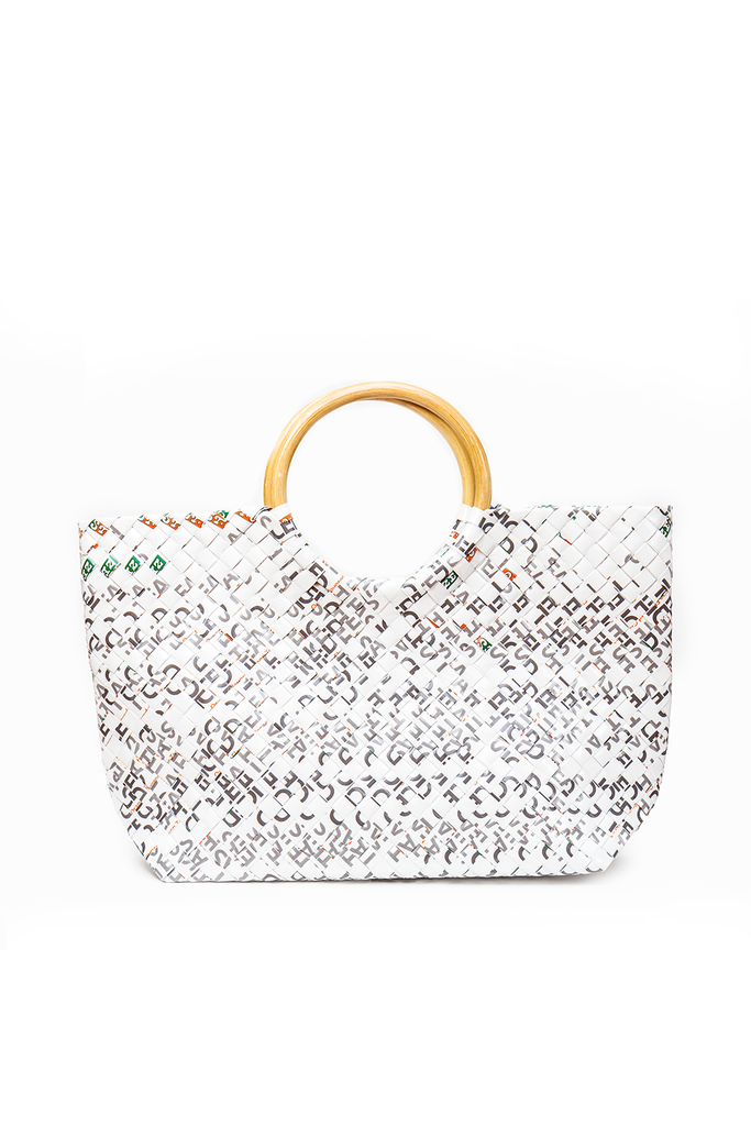 Limited Edition White Woven Handbag