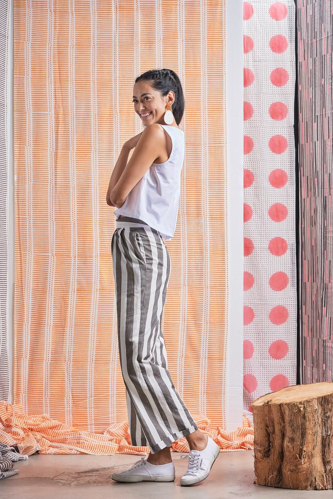 Yaatra Organic Cotton Wide-legged Trousers