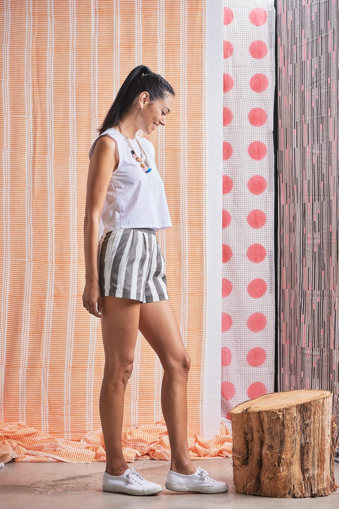 Yaatra Organic Cotton Shorts in Gray